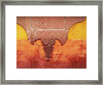 Wall In San Miguel, Mexico Framed Print by Billnoll