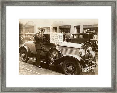 Wall Street Crash, 1929 Framed Print
