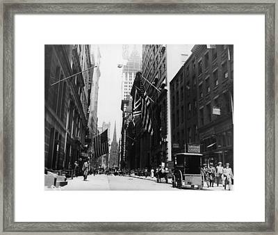 Wall Street Framed Print by Fpg