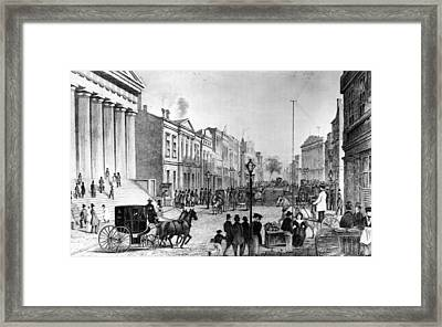 Wall Street In 1860s Framed Print by Fpg