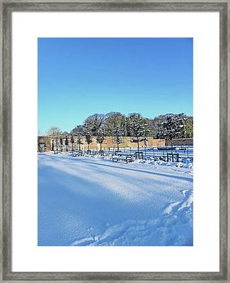 Walled Garden Winter Landscape Framed Print