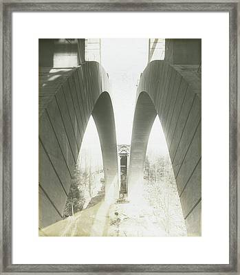 Walnut Lane Bridge Under Construction Framed Print