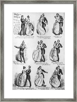 Waltzers And Waltzing Framed Print by Hulton Archive