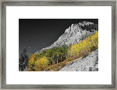 Framed Print featuring the photograph Waning Gibbous Moon Autumn Monarch Pass Bwsc by James BO Insogna