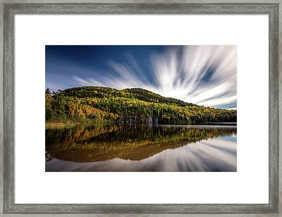 Framed Print featuring the photograph Wapizagonke Lake Reflection by Pierre Leclerc Photography