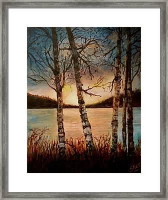 Warm Fall Day Framed Print