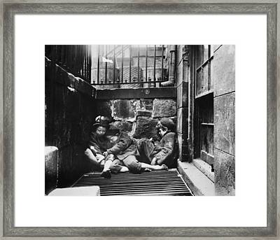 Warm Friends Framed Print by Jacob A. Riis