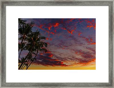 Warm Sky Framed Print