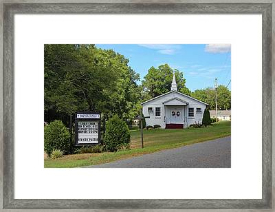 Framed Print featuring the photograph Warner Temple Ame Zion Church 10 by Joseph C Hinson Photography