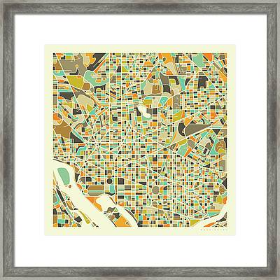 Washington Dc Map 1 Framed Print
