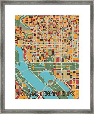 Washington Dc Map Framed Art Prints Fine Art America
