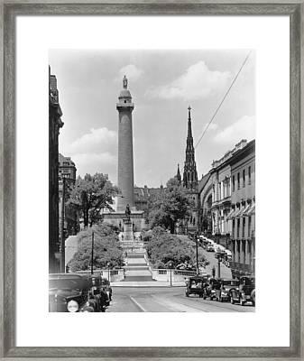 Washington Monument Framed Print by Keystone