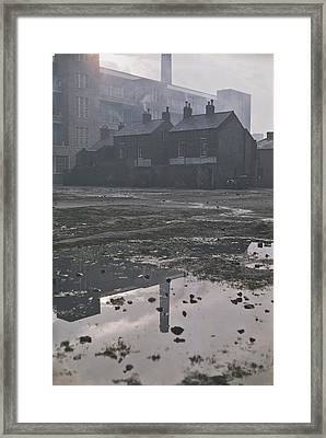 Waste Ground In Belfast Framed Print by Bert Hardy