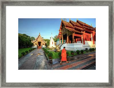 Wat Phra Singh, Chiang Mai Framed Print by Ashit Desai