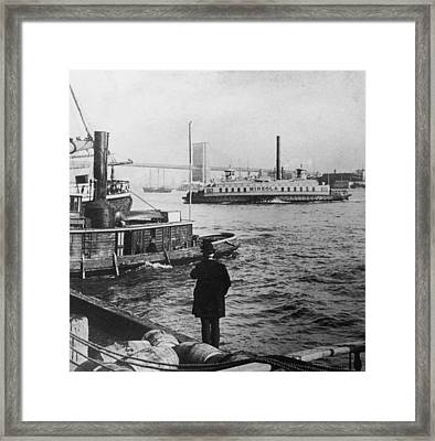 Watching Boats Framed Print by Hulton Archive