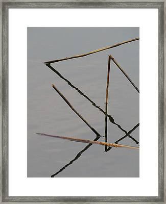 Framed Print featuring the photograph Water Construction by Attila Meszlenyi