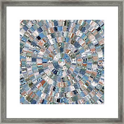 Water Mosaic Framed Print