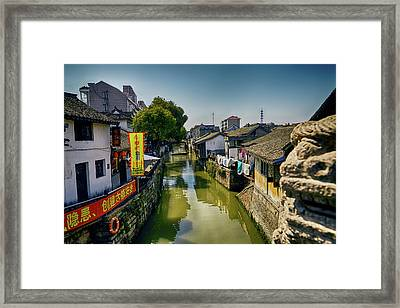 Water Village Framed Print