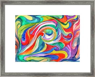 Watercolor's Swirl Framed Print