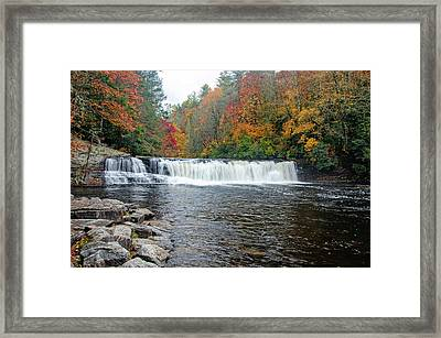 Waterfall In Autumn Framed Print