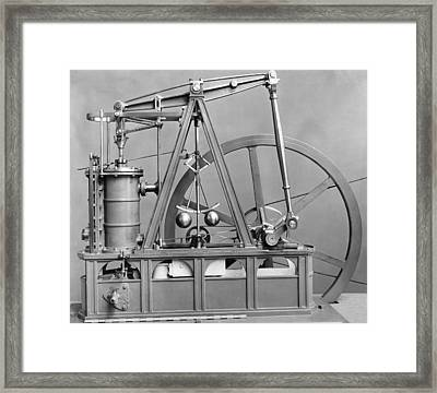 Watts Engine Framed Print by Hulton Archive