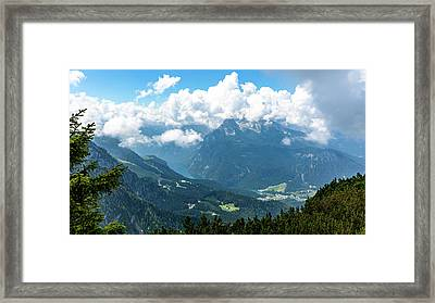 Framed Print featuring the photograph Watzmann And Koenigssee, Bavaria by Andreas Levi