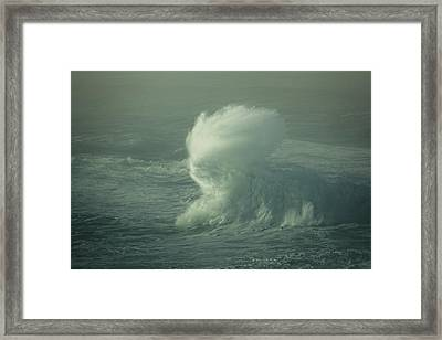 Framed Print featuring the photograph Wave Mist by Bill Posner