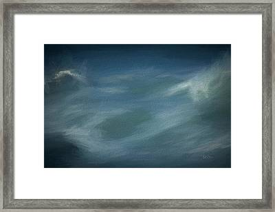 Framed Print featuring the digital art Wave Paint In Blue by Bill Posner