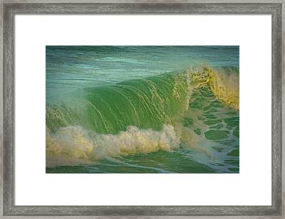 Framed Print featuring the photograph Wave Power by Bill Posner