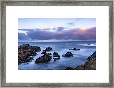 Waves At The Shore In Vesteralen Recreation Area Framed Print