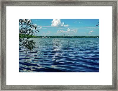 Waves On Lake Harriet Framed Print