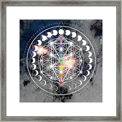 Framed Print featuring the digital art We Are Beings Of Light by Bee-Bee Deigner