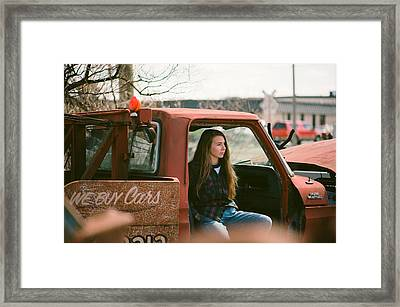 Framed Print featuring the photograph We Buys Cars by Carl Young
