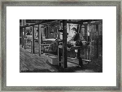 Weaver At Warners Framed Print by Hulton Archive