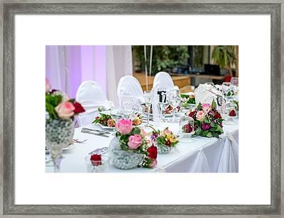 Wedding Table Framed Print