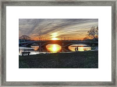 Weeks Bridge At Sunset Framed Print