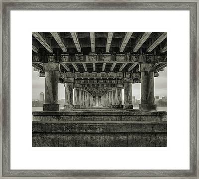 Framed Print featuring the photograph Weird Enfilade. Dnipro, 2017. by Andriy Maykovskyi