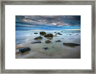 Framed Print featuring the photograph Wells Beach In Blue by Rick Berk