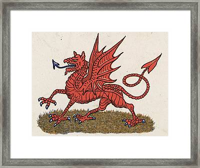 Welsh Dragon Framed Print by Hulton Archive