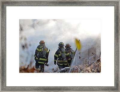 Framed Print featuring the photograph We're Going In by Carl Young