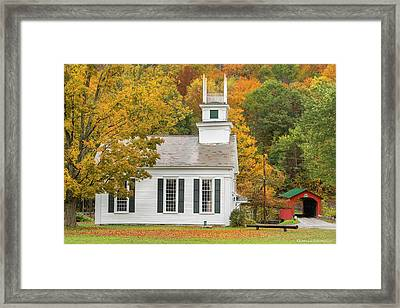 Framed Print featuring the photograph West Arlington Vermont Village Green by Expressive Landscapes Fine Art Photography by Thom