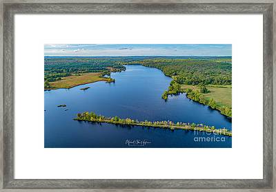Framed Print featuring the photograph West Thompson Lake by Michael Hughes