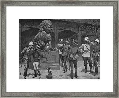 Westerners At The Gates Framed Print by Hulton Archive