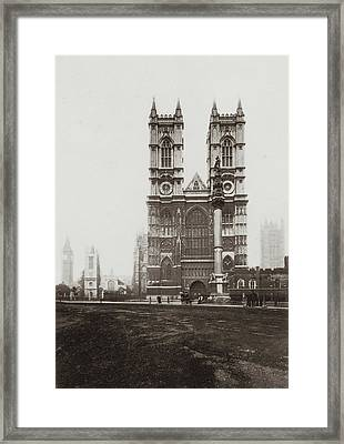 Westminster Abbey Framed Print by Otto Herschan Collection