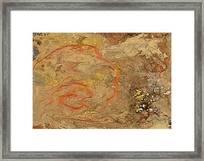 Wet Riverbed Framed Print