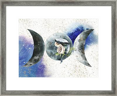 Framed Print featuring the digital art Whale Goddess by Bee-Bee Deigner
