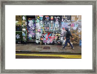 Wheatpaste Wall Framed Print