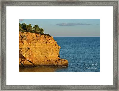 Where Land Ends In Carvoeiro Framed Print
