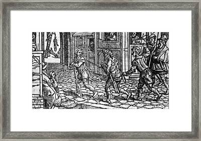 Whipping Beggars Framed Print by Fotosearch