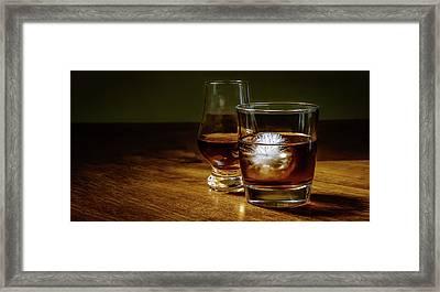 Whisky For Two Framed Print